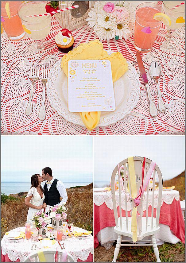 Featured Strawberry Lemonade Bohemian Wedding Inspiration on Wedding Chicks