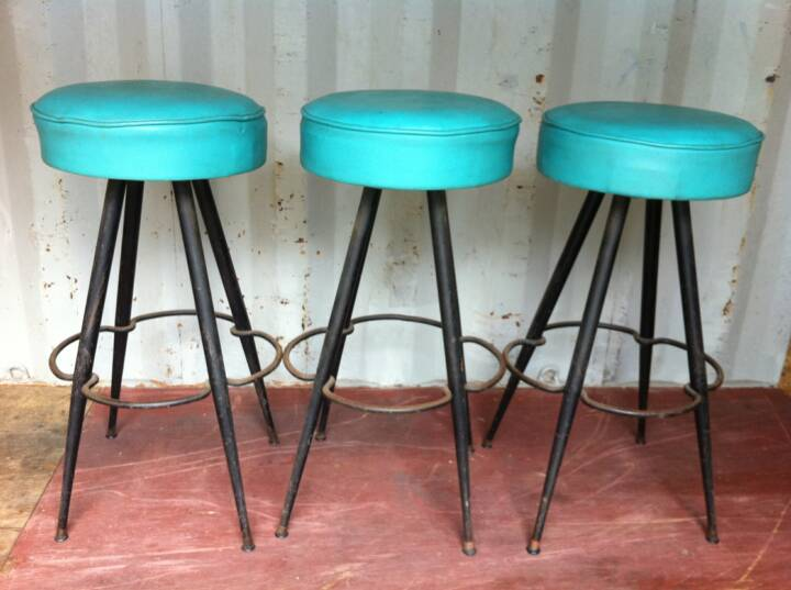 Bright vintage furniture archive rentals - Bright colored bar stools ...