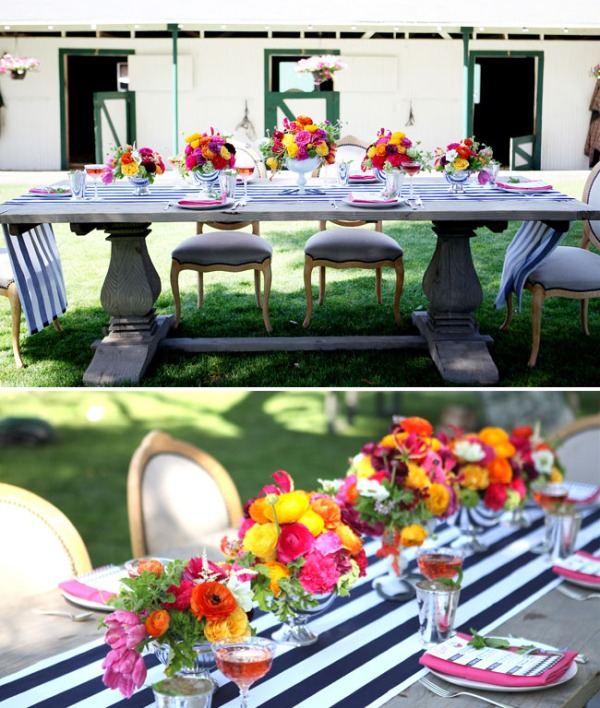 Our Orion table and Louis chairs set the stage for a bright table scape.